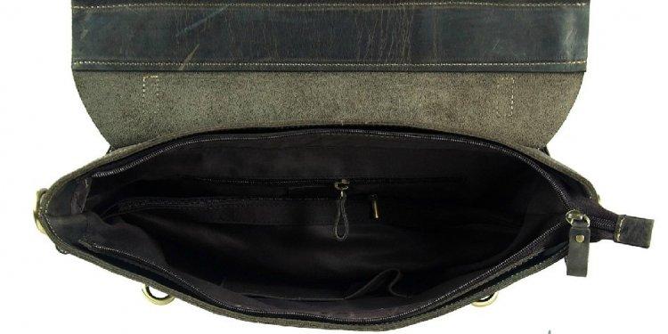 Briefcase satchel, brown