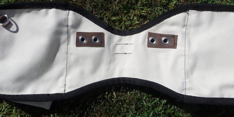 Small Canvas Saddle Bag