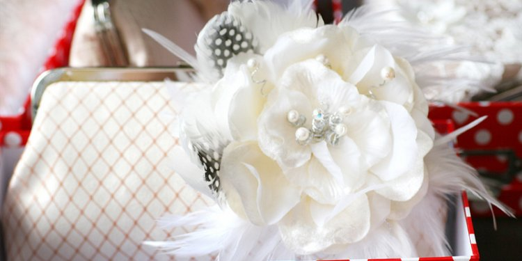 Champagne Bridal Feather Clutch with Ivory Velvet Flower 8 inches ROSE PASSION