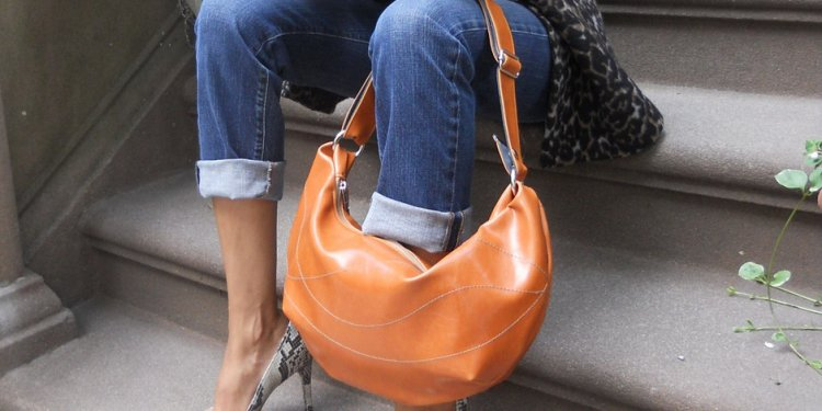 Faux leather handbags as