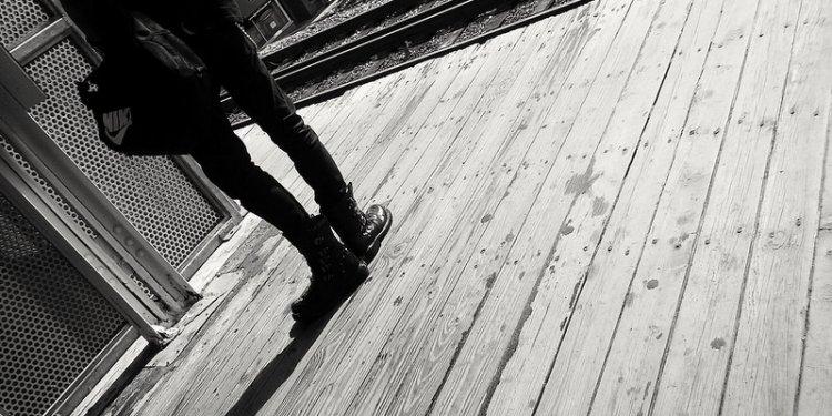 Lone stranger in black