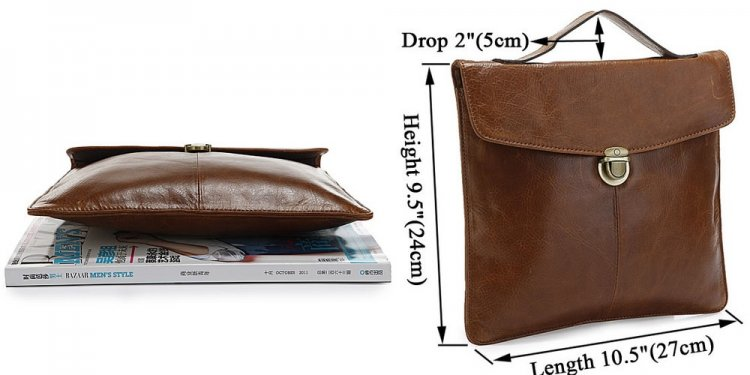 Leather Vertical Briefcase