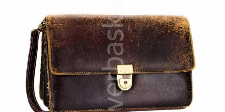 Used mens wrist brown bag