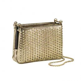 TRILOUBI crossbody in gold
